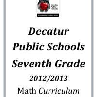 DPS61 Seventh Grade Math Common Core Curriculum