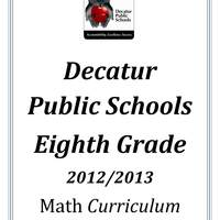 DPS61 Eighth Grade Math Common Core Curriculum