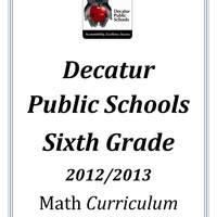 DPS61 Sixth Grade Math Common Core Curriculum