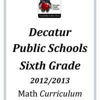 DPS61 Sixth Grade Math Common Core Curriculum