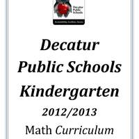 DPS61 Kindergarten Math Common Core Curriculum