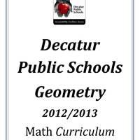 DPS61 Geometry  Math Common Core Curriculum