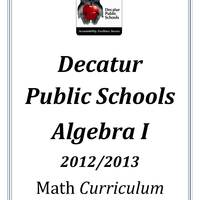 DPS61 Algebra I Math Common Core Curriculum