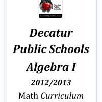 DPS61 Algebra I Math Common Core Curriculum