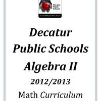 DPS61 Algebra II Math Common Core Curriculum