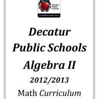 DPS61 Algebra II Math Common Core Curriculum