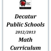 Decatur Public Schools Math Curriculum