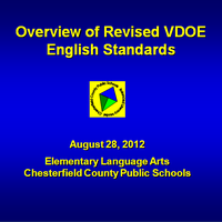 Reaching New Heights - 2012 VDOE Updates
