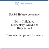 Hebrew Academy (RASG) Curriculum