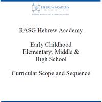 Hebrew Academy (RASG) Curriculum