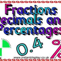 Equivalent Fractions, Decimals, and Percentages
