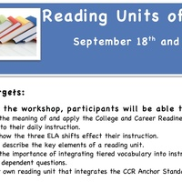 DCS Topic Study: Reading Units of Study: September 2012