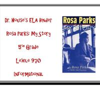 Dr. House's Rosa Parks: My Story Binder