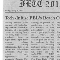 PETE & C 2013 Tech Infused PBLs Reach CCSS