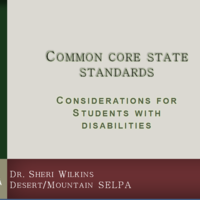 D/M SELPA CCSS and Students with Disabilities