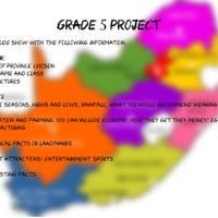 provinces project Grade 5