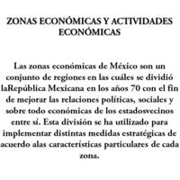 Zonas econ��micas en M��xico
