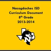 2013-2014 8th Grade Curriculum