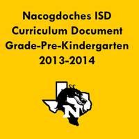 2013-2014 Pre-Kindergarten Curriculum