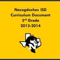 2013-2014 3rd Grade Curriculum