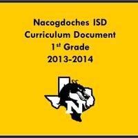 2013-2014 1st Grade Curriculum