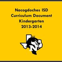 2013-2014 Kindergarten Curriculum