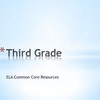 Third Grade ELA Common Core Resources
