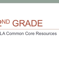 2nd ELA Common Core Resources