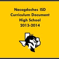 2013-2014 High School Curriculum