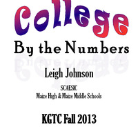 KGTC College by the Numbers Oct. 2013