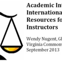 Academic Integrity Resources