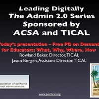 "TICAL ""PD on Demand"" Webinar Resources"