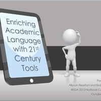 Enriching Academic Language with 21st Century Tools - 2014