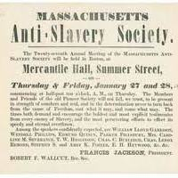 Anti-Slavery Society is Formed