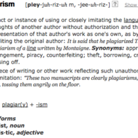 Plagiarism and Citation