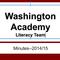 Literacy Team Minutes & Action Plan 2014/15