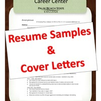 PBSC Career Center Resume & Cover Letter Binder