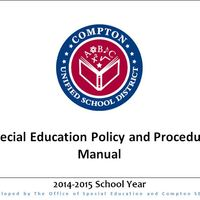 Copy of Compton Unified School District Special Education Policy