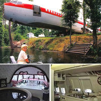 The lady who lives on a plane.