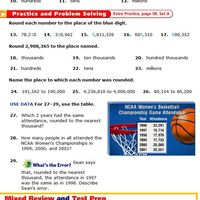 ROUND DECIMALS AND WHOLE NUMBERS