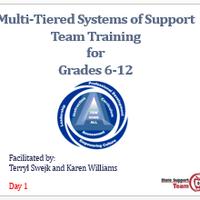 SST9 Secondary MTSS Training